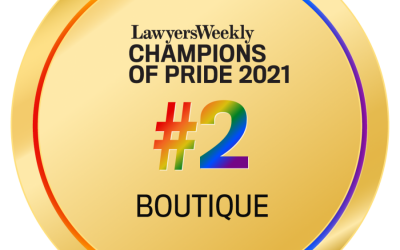 Nevett Ford Lawyers, runner-up in the Lawyers Weekly Champions of Pride Award