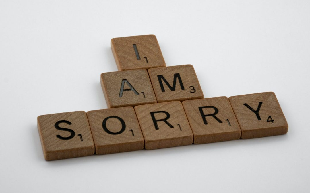 Sorry Need Not Be The Hardest Word To Say